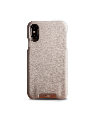 "KOŽENÝ KRYT ""GRIP"" IPHONE X/Xs - tough gray"