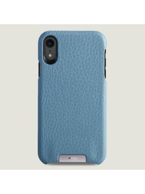 "KOŽENÝ KRYT ""GRIP"" IPHONE XR - air blue and london"