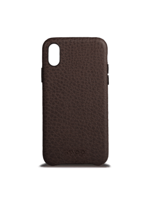 KOŽENÝ KRYT SLIM IPHONE X - f dark brown